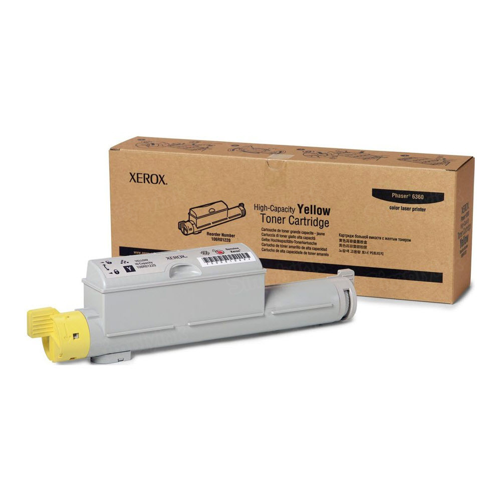 Xerox 106R01220 (106R1220) HY Yellow OEM Toner Cartridge