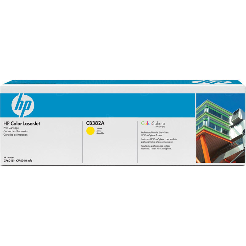 Original HP CB382A (824A) Yellow Toner