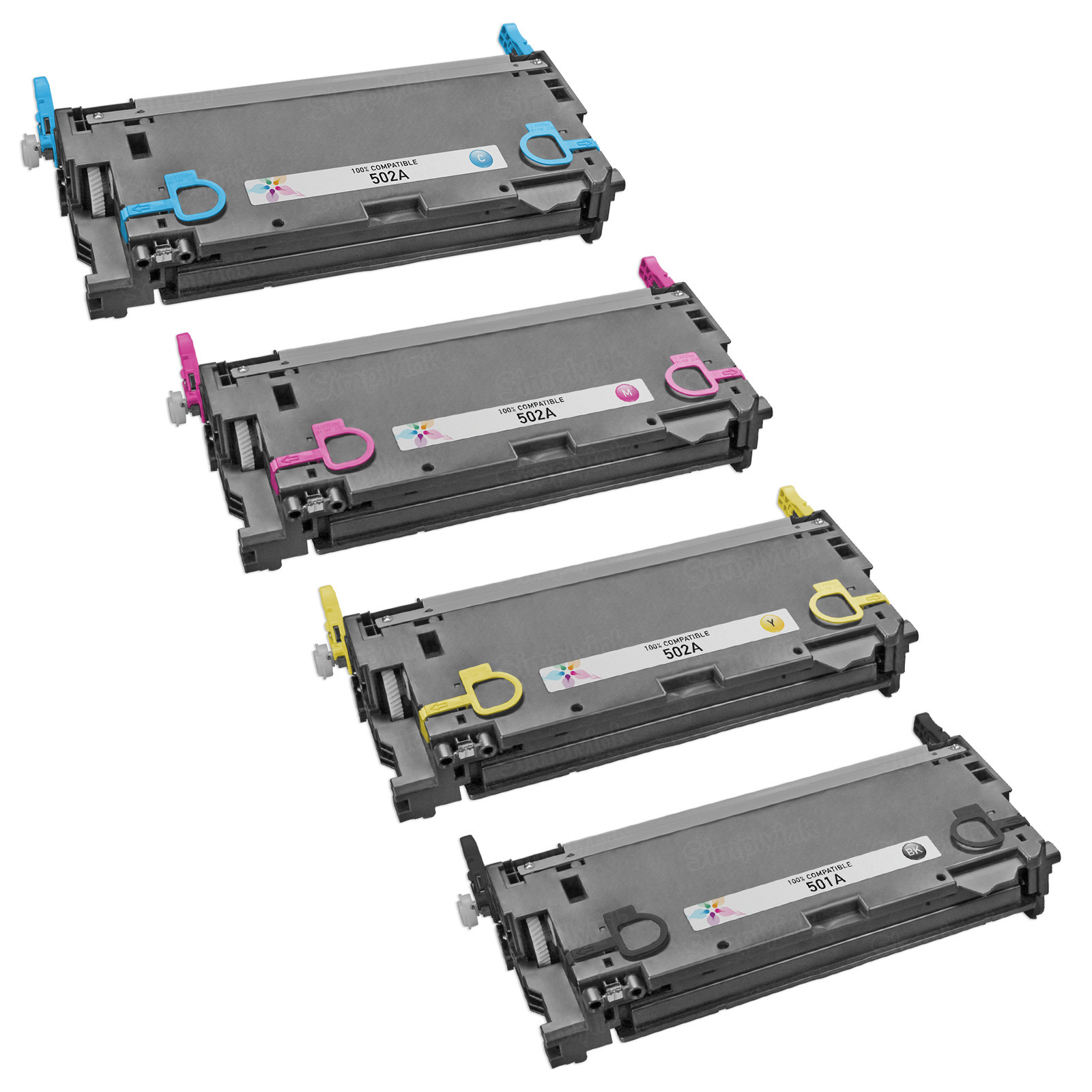 Remanufactured Replacement for HP 502A (Bk, C, M, Y) Set of 4 Toners