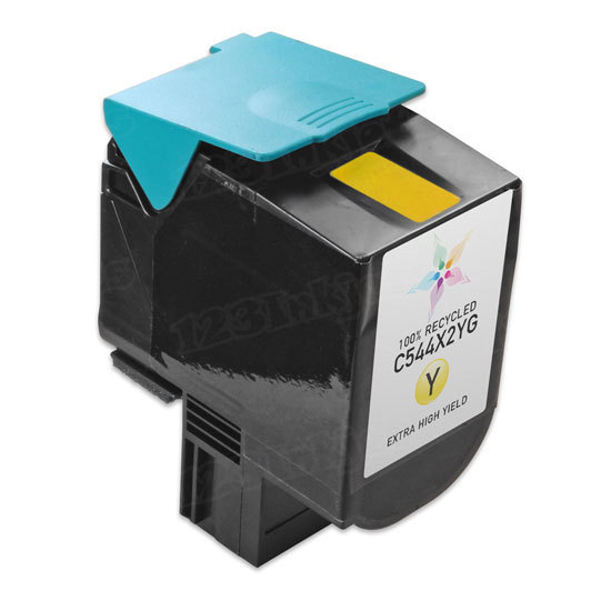 Remanufactured C544X2YG EHY Yellow Toner Cartridge for Lexmark