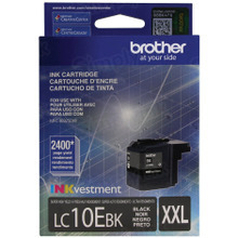 Genuine LC10EBK Super High Yield Black Ink Cartridge for Brother