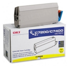 Okidata OEM Yellow 41304205 Toner Cartridge 10K Page Yield