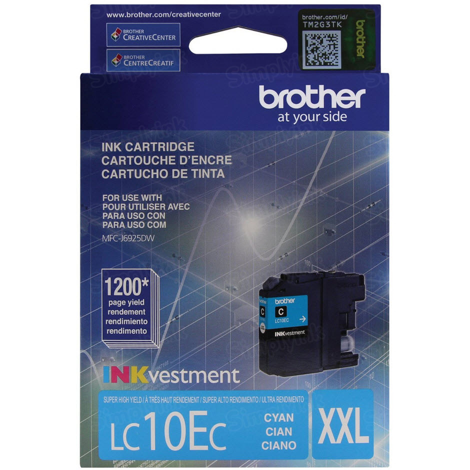 Genuine LC10EC Super HY Cyan Ink for Brother