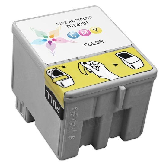 Epson Remanufactured T014201 (T014) Color Inkjet Cartridge
