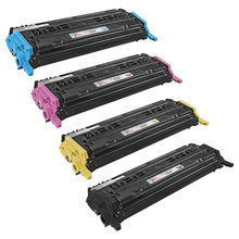 Remanufactured Replacement for HP 124A Black, Cyan, Magenta, Yellow Set of 4 Toner Cartridges