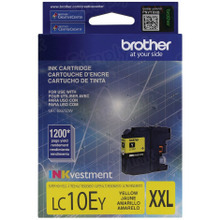 Genuine LC10EY Super High Yield Yellow Ink Cartridge for Brother