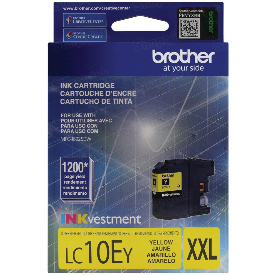 Genuine LC10EY Super HY Yellow Ink for Brother