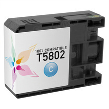 Compatible Replacement for Epson T580200 (T5802) Cyan 80ml Ink Cartridges for the Stylus Pro 3800, 3880