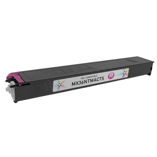 Sharp Compatible MX36NTMA Magenta Toner