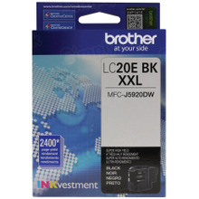 Genuine LC20EBK Super High Yield Black Ink Cartridge for Brother