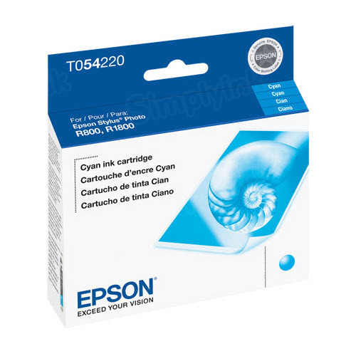 Epson T054220 Cyan OEM Ink Cartridge
