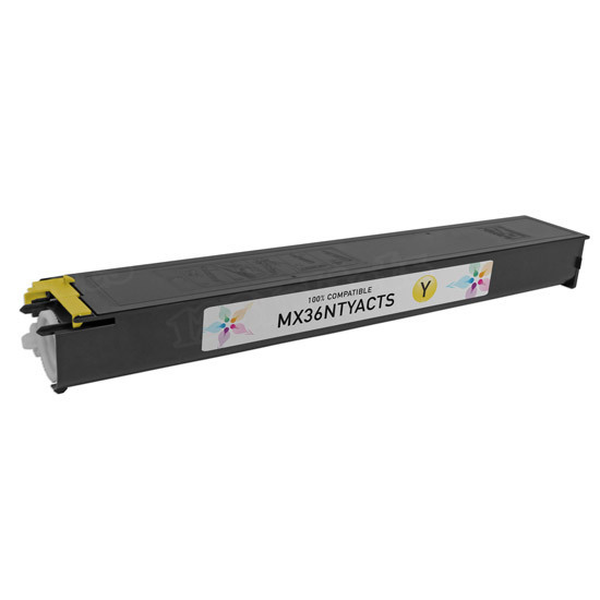 Sharp Compatible MX36NTYA Yellow Toner