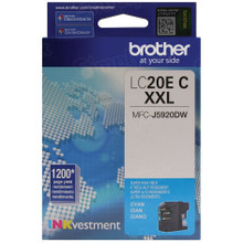 Genuine LC20EC Super High Yield Cyan Ink Cartridge for Brother
