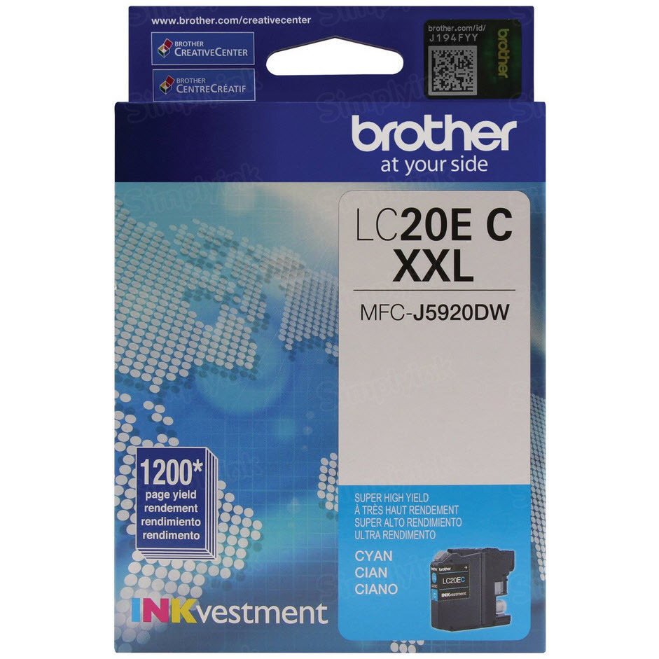 Genuine LC20EC Super HY Cyan Ink for Brother