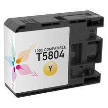 Compatible Replacement for Epson T580400 (T5804) Yellow 80ml Ink Cartridges for the Stylus Pro 3800, 3880