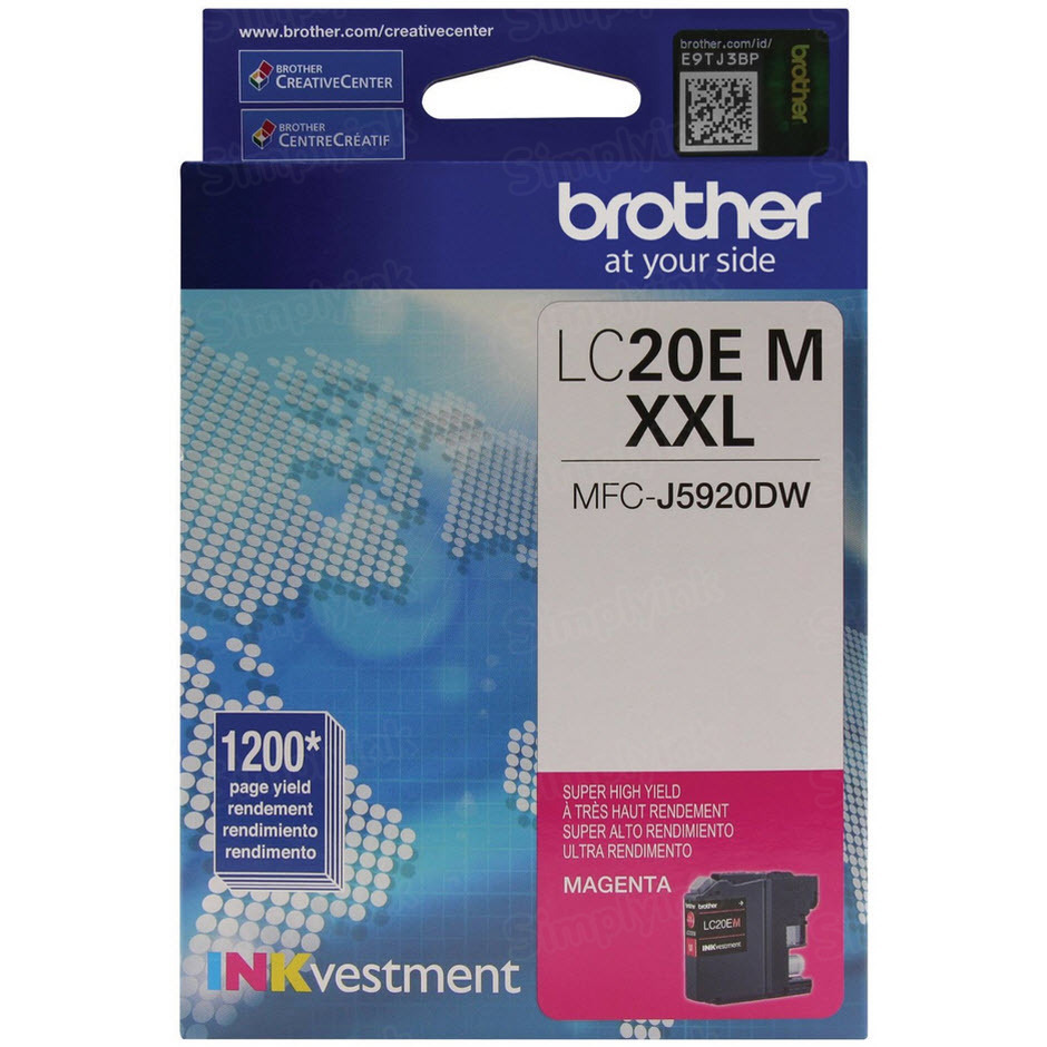 Genuine LC20EM Super HY Magenta Ink for Brother
