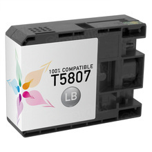Compatible Replacement for Epson T580700 (T5807) Light Black 80ml Ink Cartridges for the Stylus Pro 3800, 3880