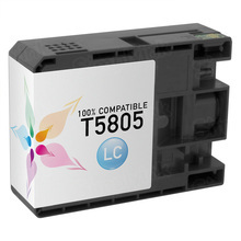 Compatible Replacement for Epson T580500 (T5805) Light Cyan 80ml Ink Cartridges for the Stylus Pro 3800, 3880