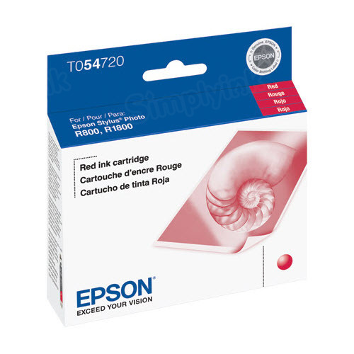 Epson T054720 Red OEM Ink Cartridge