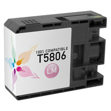 Compatible Replacement for Epson T580600 (T5806) Light Magenta 80ml Ink Cartridges for the Stylus Pro 3800, 3880