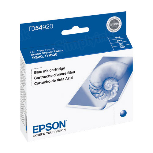 Epson T054920 Blue OEM Ink Cartridge