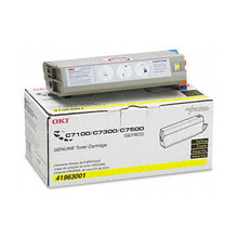 Okidata OEM Yellow 41963001 Toner Cartridge 10K Page Yield