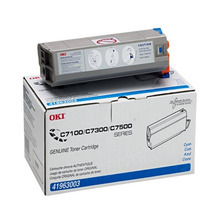 Okidata OEM Cyan 41963003 Toner Cartridge 10K Page Yield