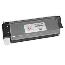 Compatible Okidata 44318604 Black Laser Toner Cartridges for the Oki C711 11K Page Yield