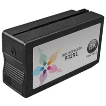 Remanufactured Replacement Ink Cartridge for Hewlett Packard CN053AN (HP 932XL) High-Yield Black with Pigment Ink