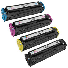 Remanufactured Replacement for HP 125A Black, Cyan, Magenta, Yellow Set of 4 Toner Cartridges