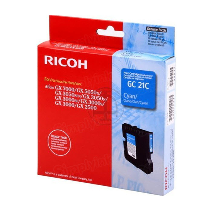 Ricoh 405533 Cyan OEM Ink Cartridge