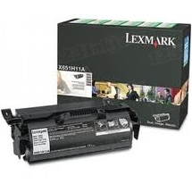 Lexmark OEM High Yield Black Return Program Laser Toner Cartridge, X651H11A (X651/X652/X656/X658 Series) (25K Page Yield)