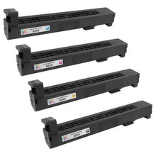 Remanufactured Replacement for HP 824A Black, Cyan, Magenta, Yellow Set of 4 Toner Cartridges