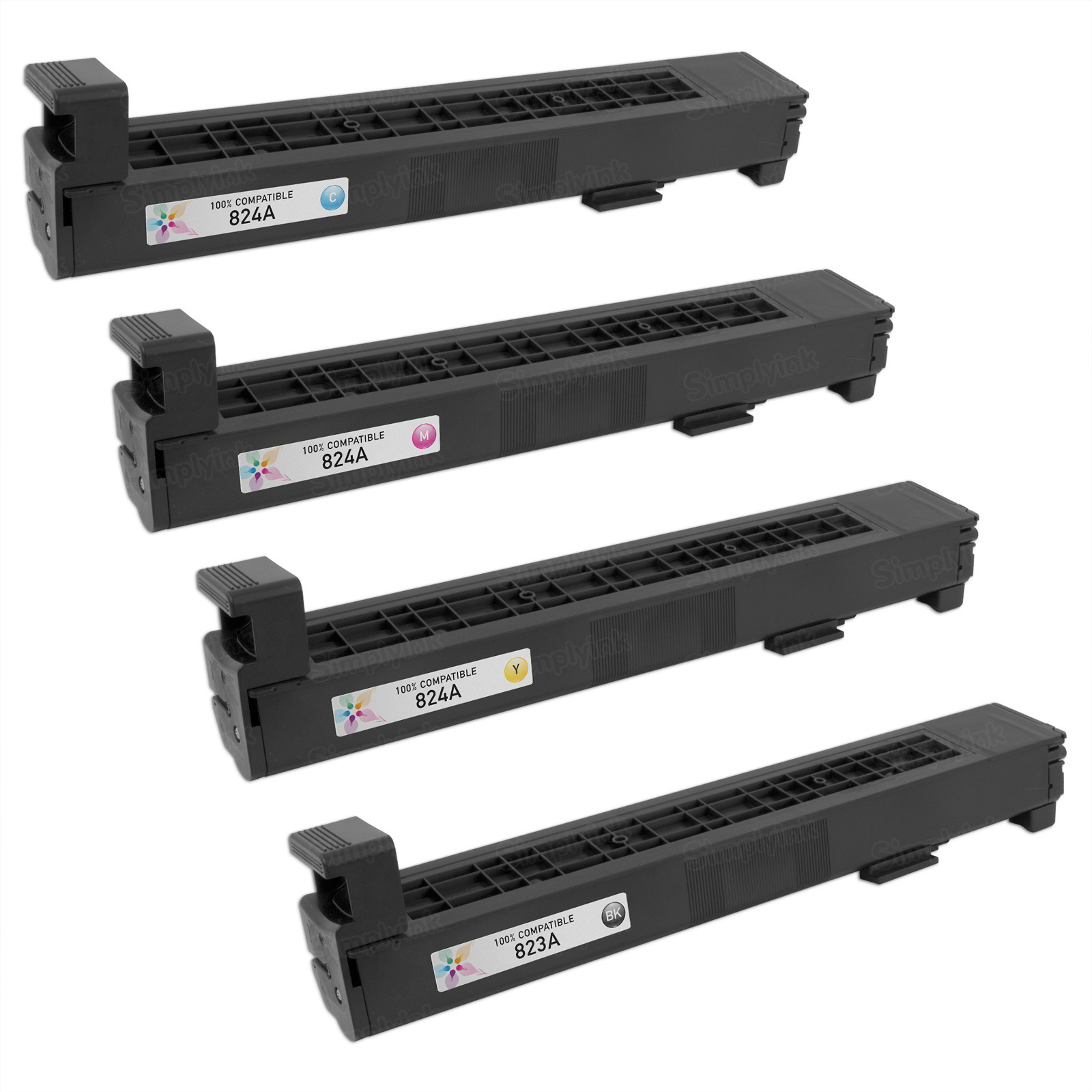 Remanufactured Replacement for HP 824A (Bk, C, M, Y) Set of 4 Toners