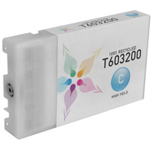 Remanufactured Replacement for Epson T603200 (T6032) High Capacity Cyan 220ml Ink Cartridges for the Stylus Pro 7800, 7880, 9800 & 9880