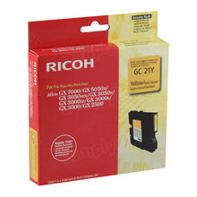 Ricoh 405535 Yellow OEM Ink Cartridge