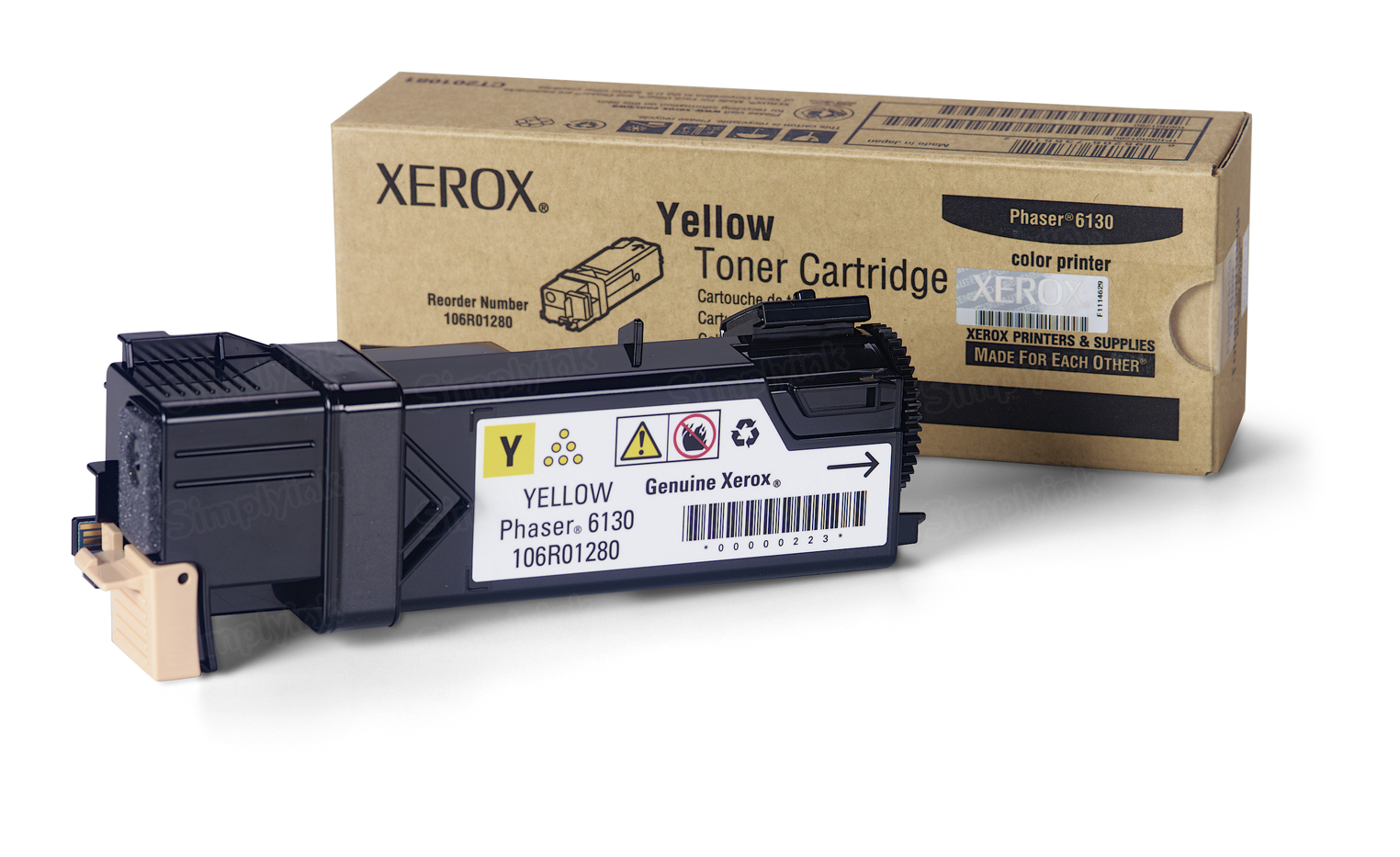 Xerox 106R01280 (106R1280) Yellow OEM Toner Cartridge