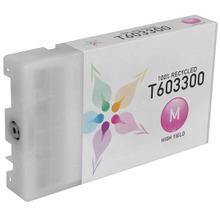 Remanufactured Replacement for Epson T603300 (T6033) High Capacity Magenta 220ml Ink Cartridges for the Stylus Pro 7880 & 9880