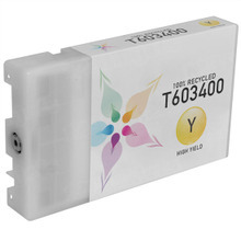 Remanufactured Replacement for Epson T603400 (T6034) High Capacity Yellow 220ml Ink Cartridges for the Stylus Pro 7800, 7880, 9800 & 9880