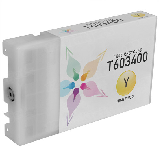 Epson Remanufactured T603400 Yellow Inkjet Cartridge for the Stylus Pro 7800/7880/9800/9880