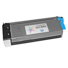 Compatible Okidata 44318603 Cyan Laser Toner Cartridges for the Oki C711 11.5K Page Yield