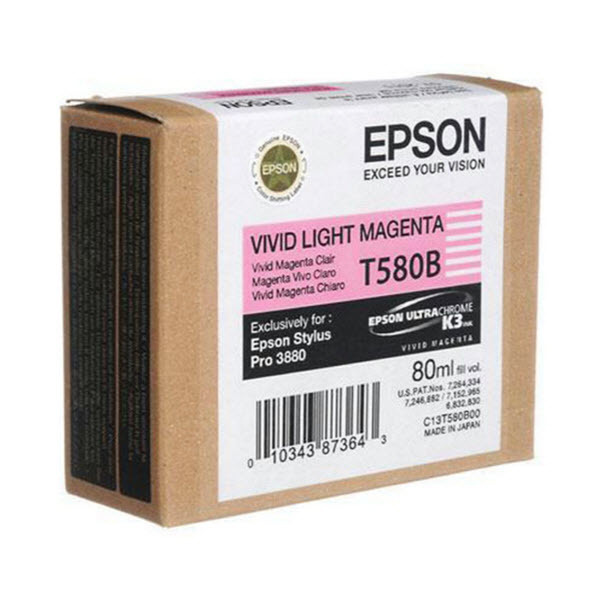 Epson T580B00 Vivid Light Magenta OEM Ink Cartridge