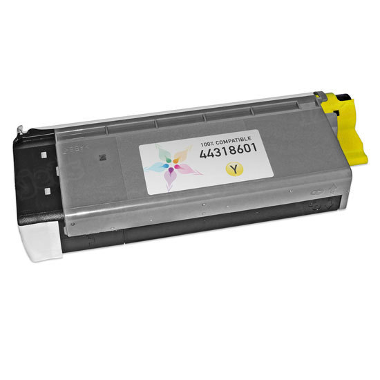 Compatible 44318601 Yellow Toner for Okidata