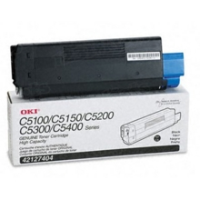 Original High Yield Black Laser Toner Cartridge for Okidata 42127404 5K Page Yield