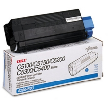 Okidata OEM Cyan 42804503 Toner Cartridge 3K Page Yield