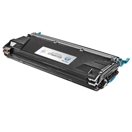 Remanufactured C736H1CG High Yield Cyan Toner for Lexmark