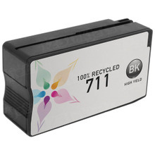 Remanufactured Replacement Ink Cartridge for CZ133A (HP 711) High Yield Black