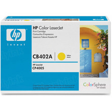 HP 642A (CB402A) Yellow Original Toner Cartridge in Retail Packaging
