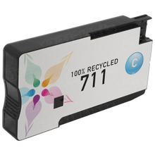 Remanufactured Replacement Ink Cartridge for CZ130A (HP 711) Cyan