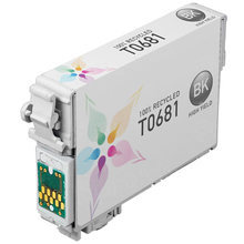 Remanufactured Epson T068120 (T0681) High Yield Black Ink Cartridges for the Stylus C120, X400, WorkForce 30